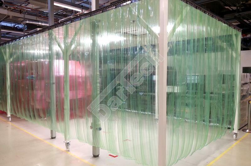 átlátszó ipari PVC szalagfüggönyök