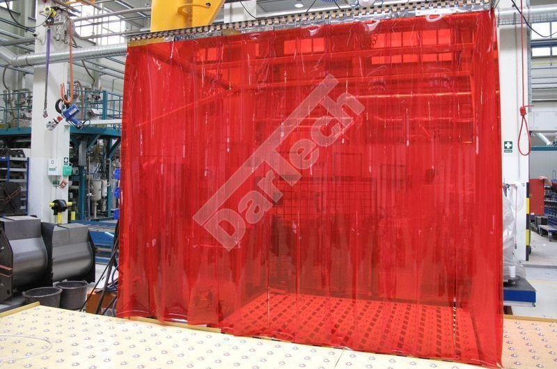 Hegesztőfüggöny UV szűrő PVC szalagokból