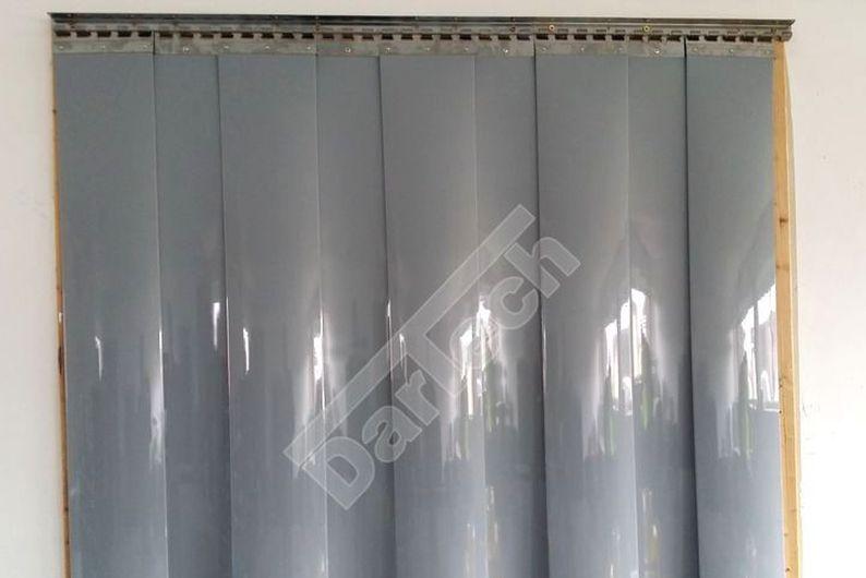Szürke színű PVC hőfüggöny szalagfüggönyök